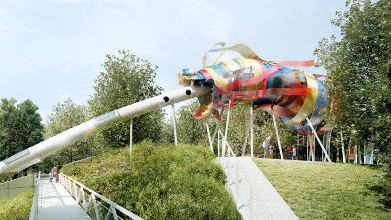 Dragon des jardins du parc de la Villette